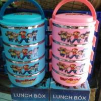 Jual Lunchbox rantang Anak stainless Lucu Doraemon 4 boboy 4 susun Murah Murah