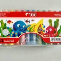 Crayon TiTi 12 Colours/ Krayon TiTi 12 Warna/ Oil Pastels Non Toxic