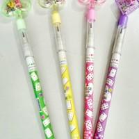 Pensil Susun Dadu/ Non Sharpening Pencil/Lucu Warna-warni Unik Jadul