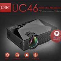 Jual UNIC UC46 projector wifi Full HD 1080P proyektor bukan uc 40 Murah Murah