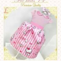 Dress/gaun hello kitty pink brand flower kids#14 sz besar
