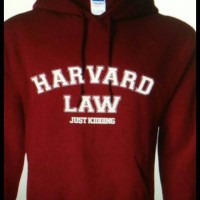 HOODIE HARVARD LAW,JUST KIDDING(ONLY SIZE S,M,L,XL) TEES004