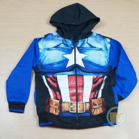 JAKET ANAK CAPTAIN AMERICA STAR OF STEEL JACKET HOODIE KIDS SWEATER