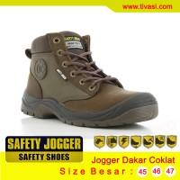 Sepatu Safety Jogger Dakar Coklat, Sepatu Kulit Asli