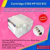 Cartridge CISS HP930 / HP931 / HP932 / HP933, Printer HP Officejet 7110 HP Officejet 7610 Auto Reset Chip