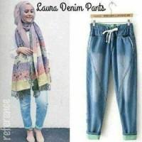 Grosir Celana Jeans Wanita/Laura Denim Pants/Celana Hijab/Celana Joger