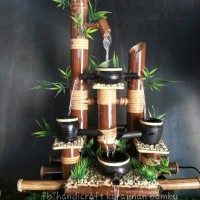 Handicraft air mancur @bambu coklat kendi 4