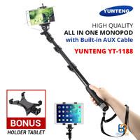Jual Tongsis Yunteng YT-1188 + Holder Tablet / Phablet - Galaxy Tab / iPad Murah
