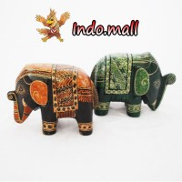 harga Patung Gajah Kayu Batik Kado Unik Lucu Kerajinan Tangan Handmade Tokopedia.com