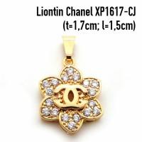 harga XP1617-CJ Perhiasan Liontin Chanel Lapis Emas Gold Tokopedia.com