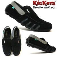 harga Sepatu Kickers Slipon Mocasin Crayon Warna Hitam, Hijau, dan Tan Tokopedia.com