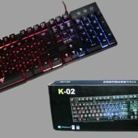 NYK ( K02 / K-02 ) Keyboard Gaming Fullsize dengan 5 mode lampu MURAH