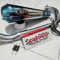 Knalpot M4 Blue To Yamaha Xabre,R15,Cb150R,CBR150/Facelift NVL (PNP)