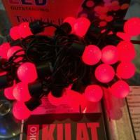 harga Lampu Led Pohon Natal Bulat Kelereng Bola - Merah Tokopedia.com