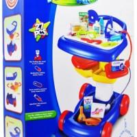 mainan anak peralatan dokter dokteran doctor trolley mainan kecerdasan