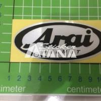 Sticker Cutting Scotlite Logo Arai Helmet Untuk Imitasi Seperti Asli