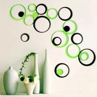 Jual 3D Wall Sticker Art Round Shape / Hiasan Dinding Modern Warna-warni Murah