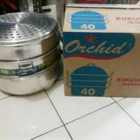 Panci Kukus / Steamer / Kalakat : Pengukus Kue / Dimsum - Orchid 40 Cm