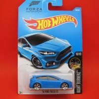 Hot Wheels Ford Focus RS Forza Motorsport Biru