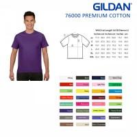 Jual Kaos Polos Gildan 76000 Premium Cotton XS S M L XL Original Murah Murah