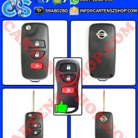 Casing Kunci Model Lipat Flip Key 3 Tombol Mobil Nissan Livina, Grand Livina, XTrail