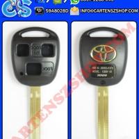 Casing Kunci 3 Tombol Kotak Model Standar Mobil Toyota Land Cruiser, Prado, Alphard, Vellfire, Harrier, RAV4, Camry, Dll