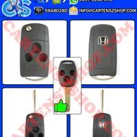 Casing Kunci Lipat / Flip Key 3 Tombol Mobil Honda Jazz, Crv, Civic, Freed, Brio, Mobilio, Accord, City, Dll