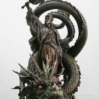 Patung elite Three Kingdom Zhuge liang Kongming Sleeping Dragon