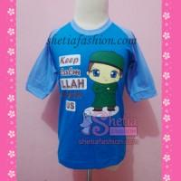 baju muslim anak laki-laki islami : keep calm biru seri remaja