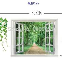Jual WALLSTICKER/WALL STICKER 60X90-AY823-WINDOW N HANGING FLOWER II Murah