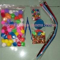 Jual Paket Sensory Toys Montessori Pompom Waterbeads Hidrogel Murah