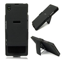 Heavy Duty Armor Impact Holster Stand case Cover for Sony Xperia Z1