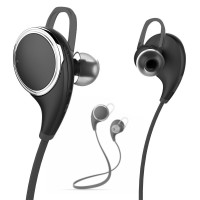Bluedio Sport Bluetooth Earphone with Microphone - QY8 - Black 52FTR