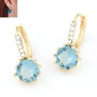 NA320 anting korea jepit wanita import huggie earrings crystal elegan