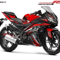 Decal stiker Yamaha R15 Black stylish Red