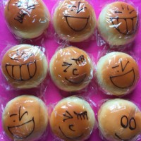 Squishy bread emotion jumbo/ mainan anak bentuk roti emo