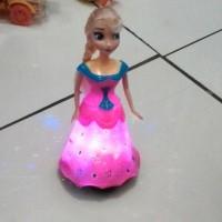 Mainan Anak Frozen New Edition + Nyala Led Nyanyian Free Baterai AA