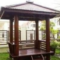 Gazebo kayu kelapa glugu free ongkir jabodetabek bonus pasang