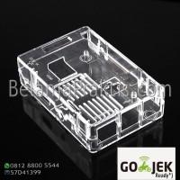 Case Transparan - Enclosure Box - GPIO Camera Hole for Raspberry Pi