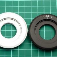 Adapter Cctv Lens To Olympus / Panasonic MFT Mirrorless (C-M43)