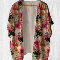 Cardigan Wanita - Kimono Outer Pointed Flower