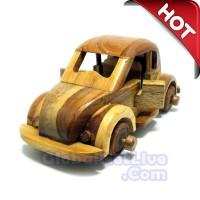 Miniatur Mobil Vw Kodok Kayu Jati - Pajangan Dekorasi Ruangan