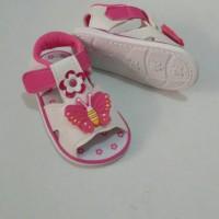 Sepatu Sandal Babykiddies Kupu Bunga Pink Fanta Bunyi