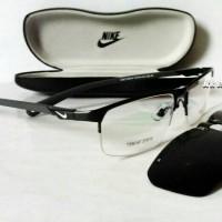 Jual frame kacamata minus kacamata sporty ( nike + clip on polarized ) Murah