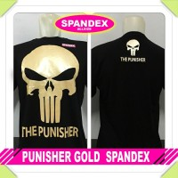 Baju Kaos Distro Anime Punisher Gold Spandek Hitam
