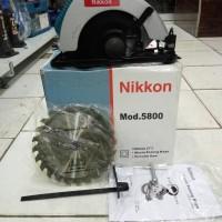Mesin Gergaji Kayu / Circular Saw Nikkon 5800