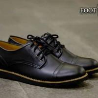 sepatu casual pria FOOTSTEP PEDRO BLACK 40-44