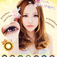 Original Softlens Diva 3d Lollipops Brown (coklat Terang)