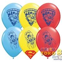 """BALON GAMBAR 11"""" SUPERMAN #21923 (ISI 10)"""
