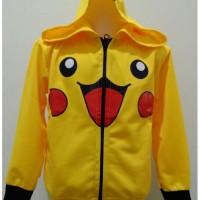 Jual Jacket / Jaket Hoodie Anak Perempuan Cewek Remaja Lucu - Pikachu Girl Murah